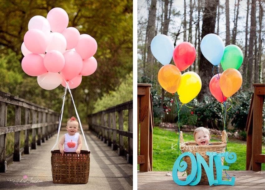bebe ballon photo mongolfiere