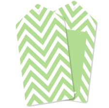 12 Étiquettes Cadeaux Chevron Vert