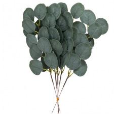 5 Branches de feuilles d'eucalyptus vertes 35 cm