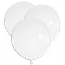 5 Grands Ballons Latex Blanc 47 cm