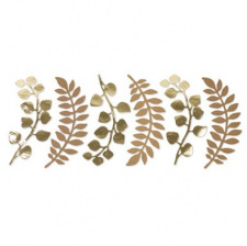 6 Feuilles de fougère eucalyptus Kraft & Or