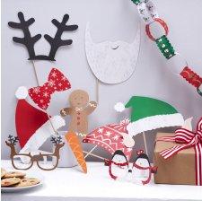 Accéssoires Photobooth Noel Santa (x10)