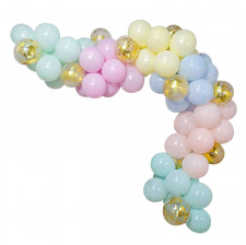 Arche de Ballon Organique Pastel & Doré