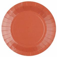 Assiettes biodégradable Terracotta (x10)