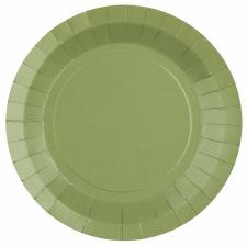 Assiettes biodégradable Vert Eucalyptus (x10)