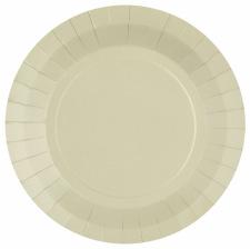 Assiettes biodégradables Sable (x10)