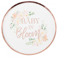 Assiettes carton floral Baby in Bloom (x8)