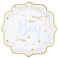 Assiettes en carton Baby Boy Bleu (x5)