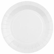 Assiettes en carton Blanc Laqué (x10)
