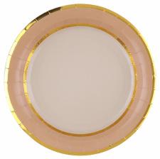 Assiettes en carton Craft à Pois Or (x4)