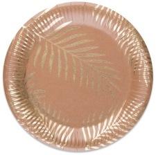 Assiettes en carton Feuillage Tropical Chic (x8)