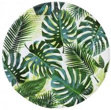 Assiettes en carton Feuillage Vert Tropical (x4)