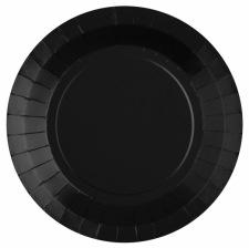 Assiettes en carton Noir & Or Etoile (x6)
