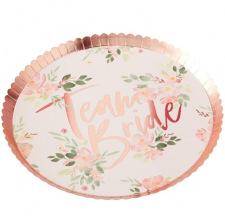 Assiettes en carton Team Bride Floral (x8)