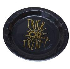 Assiettes en carton Toile d'araignée Halloween (x8)