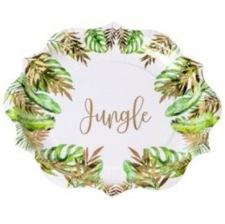 Assiettes en carton Tropical Jungle (x8)