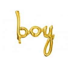 Ballon Boy Mylar Aluminium Or