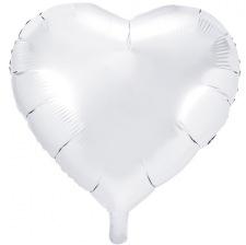 Ballon Cœur Mylar Aluminium Blanc