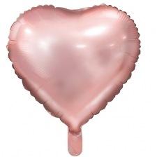 Ballon Coeur Mylar Aluminium Rose Gold