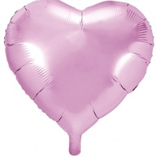 Ballon Coeur Mylar Aluminium Rose Pastel