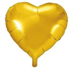 Ballon Coeur Mylar Or