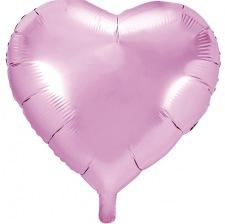 Ballon Coeur mylar Rose Pastel