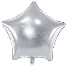 Ballon Etoile Mylar Aluminium Argent