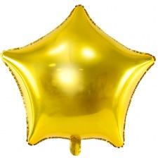 Ballon Etoile Mylar Aluminium Or
