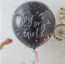 Ballon Géant Confettis Gender Reveal Boy or Girl ?