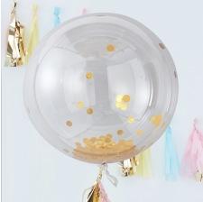 Ballon Géant Confettis Or métal