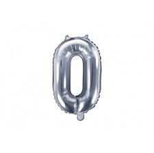 Ballon Mylar Aluminium Chiffre Argent 35 cm