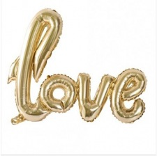 Ballon Mylar Aluminium LOVE Or