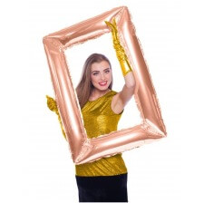 Ballon Mylar Cadre Photobooth Rose Gold