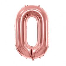 Ballon mylar chiffre Rose Gold 86 cm (Géant)