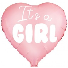 Ballon Mylar Coeur It's a Girl
