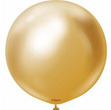 Ballon Rond Géant Or Brillant Métallisé