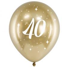 Ballons Anniversaire 40 ans Or Chromé