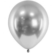 Ballons Argent Chromé (x5) - Latex