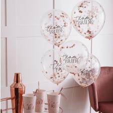 Ballons Confettis de table Team Bride (x5)