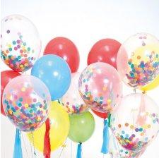 Ballons Confettis Multicolore (x8)