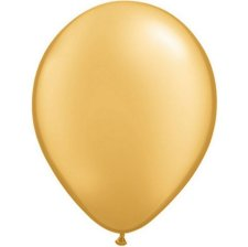 Ballons de baudruche Biodégradable Or Métallisé (x5)