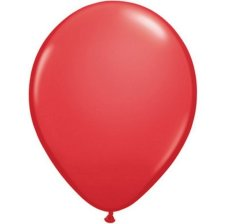 Ballons de baudruche Biodégradable Rouge (x10)