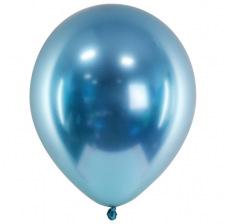 Ballons de baudruche Chromé Bleu (x5)
