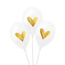 Ballons de baudruche Coeurs doré (x3)