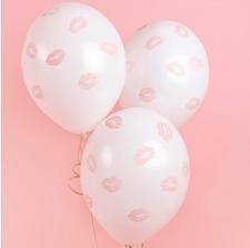 Ballons de baudruche Lèvre Rose Pastel (x5)