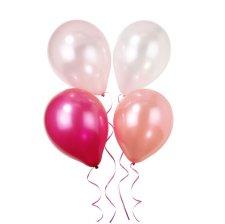 Ballons de baudruche Mix Rose métallisé (x9)