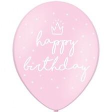 Ballons Happy Birthday Rose Pastel (x5)