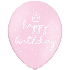 Ballons Happy Birthday Rose Pastel (x6)