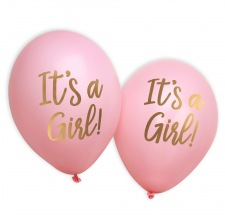 Ballons It's a Girl Rose et Or (x4)