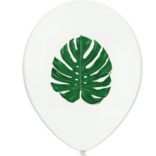 Ballons latex Feuillage Tropical Aloha (x5)